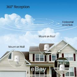 1byone Antcloud Outdoor TV Antenna with Omni-Directional 360 Degree Reception, A