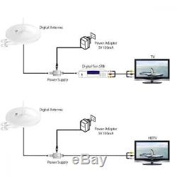 1byone Outdoor HDTV Antenna with Omni-directional 720 Degree Reception, 85