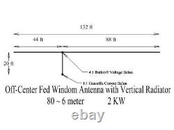 2KW Stainless Steel OCF Dipole with vertical radiator-80-6 Meters