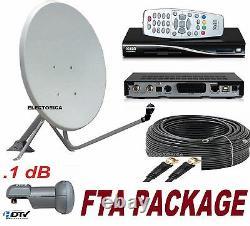 36 Satellite Dish+dreambox Dm100 Fta Receiver+lnb+100ft Rg6 Cable Persian Arabic