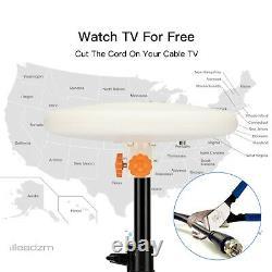 360° Omni-directional Outdoor Amplified TV Antenna Digital UHF VHF FM 4K HDTV US