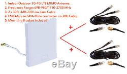 3G 4G LTE Omni MIMO Antenna for ZTE MF275 MF275R MF 275 Rocket Hub