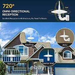 720°Omni-Directional Reception Outdoor TV Antenna Built-in Amplifier Enhance UHF