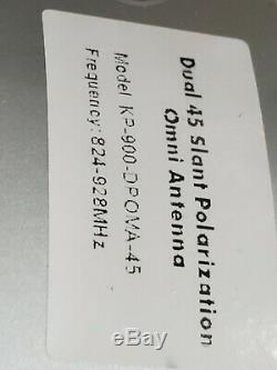 900 MHz, 10 dBi, Dual Pol 45 Slant Omni Antenna, 2-Port-New never installed