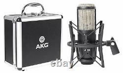 AKG P420 Studio Condenser Recording Podcasting Microphone Mic+Case+Headphones