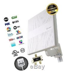 ANTOP Outdoor TV Antenna 360° Omni Directional Reception for UHF/VHF Reception