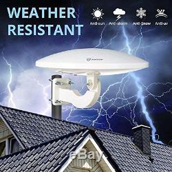ANTOP UFO 360° Omni-Directional Outdoor HDTV Antenna 65 Miles Range with & 4G 4K