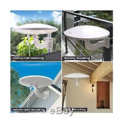 ANTOP UFO Outdoor TV Antenna, 360°Omni Directional Reception High Gain TV Ant