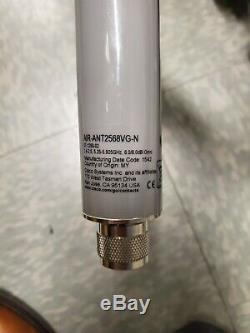Cisco Aironet Dual Band Omni Antenna AIR-ANT2568VG-N Mesh N Connector Gray