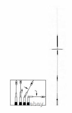 Comet UHV-6 (40M, 15M, 10M, 50-54, 144-148 & 440-450MHz) MutliBand Mobile Antenna