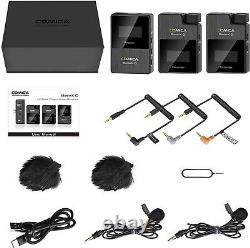 Comica BoomX-D2 2.4G Wireless Microphone System for iPhone DLSR Sony Nikon Canon