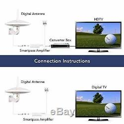 Dual Omni-Directional Amplified HD Digital TV Antenna, 65 HDTV Outdoor Antenna