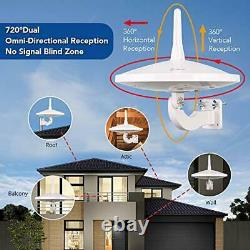 Dual Omni-Directional Amplified HD Digital TV Antenna, 65 Miles Super Strong