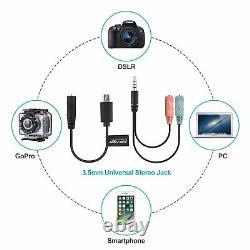 GoPro Pro 3.5mm Mic Adapter FOR GOPRO HERO7 BLACK HD LAVALIER MICROPHONE + W SC
