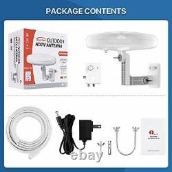 HDTV Antenna 1byone 360° Omni-Directional Reception Amplified Outdoor TV An