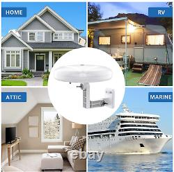 HDTV Antenna 1byone 360° Omni-Directional Reception Amplified Outdoor TV Ante