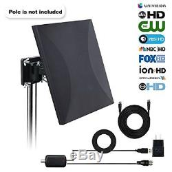 HDTV Antenna160 Mile Range Indoor/Outdoor TV Antenna with with Omni-direction