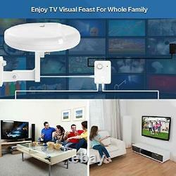 HDTV Outdoor Amplified TV Antenna 360° Omni-Directional Digital HD 1080P 4K