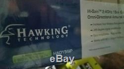 Hi-Gain Outdoor 2.4GHZ OMNI-DIRECTION HAO15SIP Antenna HAWKING TECHNOLOGY