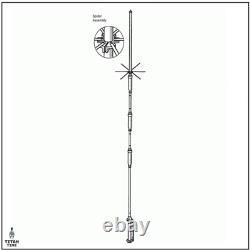 Hustler 4BTV 4-Band HF Vertical Amateur Ham Radio Base Antenna 1,500 Watt