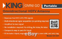 KING Omni-GO Omni-Directional Portable Over-the-Air Amplified HDTV TV Antenna