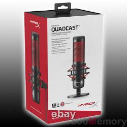 Kingston HyperX QuadCast USB Condenser Microphone Shock Mount Mic for PC PS4 PS5