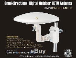 LAVA OmniPro HD-8000 Omni-Directional HDTV Antenna + J-Pole Universal Mount
