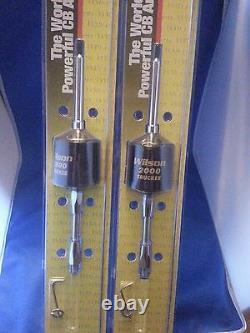 Lot Of 2 Wilson 305-492 T2000 Trucker Cb Radio Antenna 5 Shaft Black