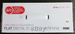 NEW TERK OMNITVEX Omni-Directional Amplified Digital Flat Outdoor HDTV Antenna