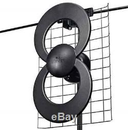 New Black Indoor/Outdoor Non-Amplified Omni-Directional HDTV UHF VHF Antenna