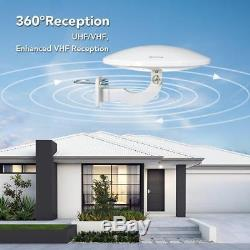 Outdoor Amplified HDTV Antenna, ANTOP UFO 360 ° Omni-directional Reception