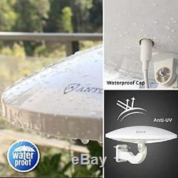 Outdoor Amplified HDTV Antenna, ANTOP UFO 360 Omni-directional Reception, 65 For