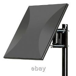 Outdoor Indoor Amplified Digital HD TV Antenna Long Range Omni-Directional Black