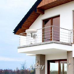 Outdoor Indoor Digital Amplified TV Antenna HD Omni Directional White 60mi 96km