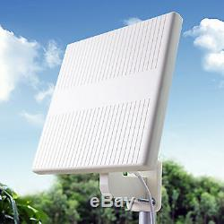 Outdoor Indoor Digital HD TV Antenna Panel Amplified Omni-Directional 65mi 104km