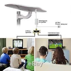 Outdoor/RV HDTV Antenna ANTOP Omni-Directional Wing TV Antenna with Smartpa