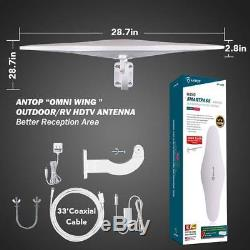Outdoor/RV HDTV Antenna ANTOP Omni-Directional Wing TV Antenna with Smartpass