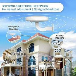 Outdoor TV Antenna, 1byone 360° Omni-Directional Reception Amplified New Concept