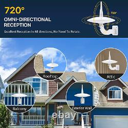 Outdoor TV Antenna 1byone 720°Omni-Directional Reception TV Antenna Built-in