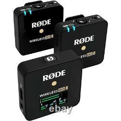 Rode Wireless Go II Dual-Channel Wireless Microphone System Black