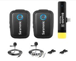 Saramonic Blink 500 B4 2-Person Wireless Lavalier Microphone System iOS 2.4Ghz