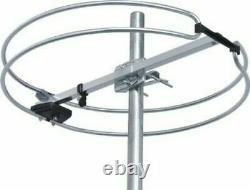 Stellar Labs Omni Directional Outdoor TV Antenna & 30dB Gain PreAmplifier Bundle