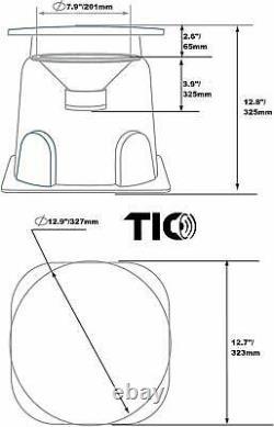TIC GS3 8 Outdoor Weather-Resistant Omnidirectional In-Ground Speaker(Pair)