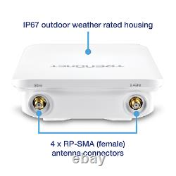 TRENDnet 5dBi Wireless AC1200 Outdoor PoE+ Omni Directional Access Point