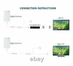 UFO 360° Omni-Directional Reception Outdoor TV Antenna 65 Miles Range with