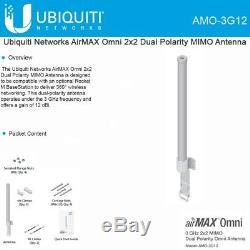 Ubiquiti AMO-3G12 AirMAX Omni 2x2 Dual Polarity MIMO Antenna