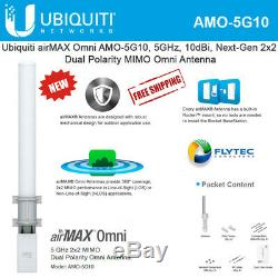 Ubiquiti AMO-5G10 5Ghz 10dbi 2x2 MIMO Omni Airmax Outdoor Antenna