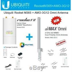 Ubiquiti Rocket M365 3.65GHz + AMO-3G12 3.65GHz 12dBi Omni Antenna