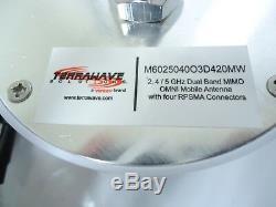Ventev TerraWave 2.4 / 5 GHz Micro Omni Antenna with 4 RPSMA Connector