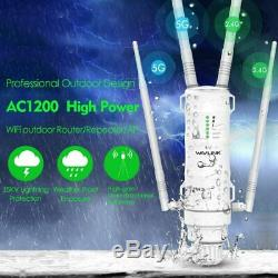 WiFi Extender Outdoor Weatherproof High Power Omni Directional Antenna WAVLINK